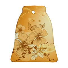 Wonderful Flowers With Butterflies Ornament (Bell)