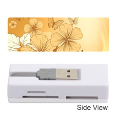 Wonderful Flowers With Butterflies Memory Card Reader (Stick)