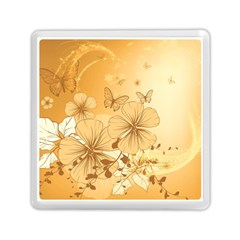 Wonderful Flowers With Butterflies Memory Card Reader (square)