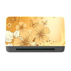 Wonderful Flowers With Butterflies Memory Card Reader With Cf