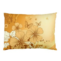 Wonderful Flowers With Butterflies Pillow Cases (two Sides)