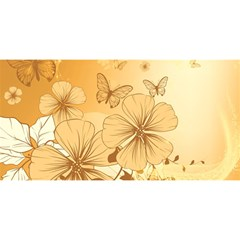 Wonderful Flowers With Butterflies YOU ARE INVITED 3D Greeting Card (8x4)