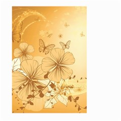 Wonderful Flowers With Butterflies Large Garden Flag (Two Sides)