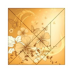 Wonderful Flowers With Butterflies Acrylic Tangram Puzzle (6  X 6 )
