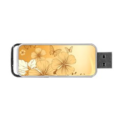 Wonderful Flowers With Butterflies Portable USB Flash (Two Sides)