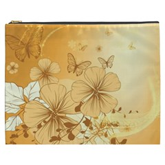 Wonderful Flowers With Butterflies Cosmetic Bag (XXXL)