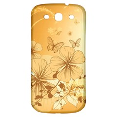 Wonderful Flowers With Butterflies Samsung Galaxy S3 S III Classic Hardshell Back Case