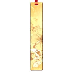 Wonderful Flowers With Butterflies Large Book Marks