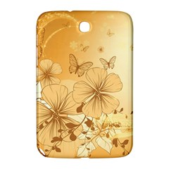 Wonderful Flowers With Butterflies Samsung Galaxy Note 8.0 N5100 Hardshell Case