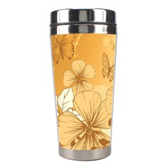 Wonderful Flowers With Butterflies Stainless Steel Travel Tumblers