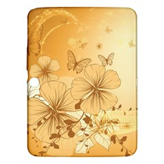 Wonderful Flowers With Butterflies Samsung Galaxy Tab 3 (10.1 ) P5200 Hardshell Case