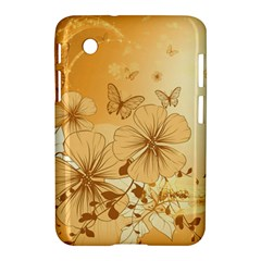 Wonderful Flowers With Butterflies Samsung Galaxy Tab 2 (7 ) P3100 Hardshell Case