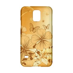Wonderful Flowers With Butterflies Samsung Galaxy S5 Hardshell Case