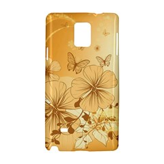 Wonderful Flowers With Butterflies Samsung Galaxy Note 4 Hardshell Case