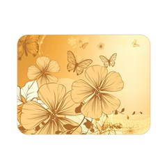 Wonderful Flowers With Butterflies Double Sided Flano Blanket (mini)