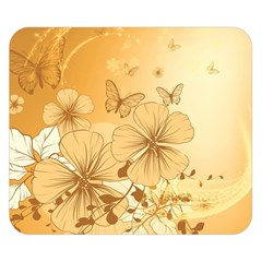 Wonderful Flowers With Butterflies Double Sided Flano Blanket (small)