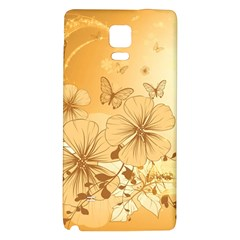 Wonderful Flowers With Butterflies Galaxy Note 4 Back Case