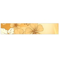 Wonderful Flowers With Butterflies Flano Scarf (large)
