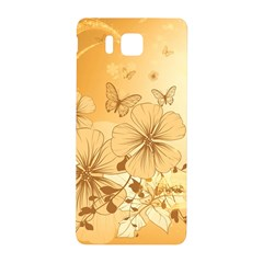 Wonderful Flowers With Butterflies Samsung Galaxy Alpha Hardshell Back Case