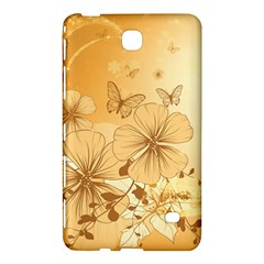 Wonderful Flowers With Butterflies Samsung Galaxy Tab 4 (7 ) Hardshell Case