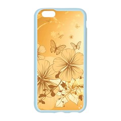 Wonderful Flowers With Butterflies Apple Seamless iPhone 6 Case (Color)