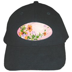 Beautiful Flowers On Soft Pink Background Black Cap