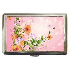 Beautiful Flowers On Soft Pink Background Cigarette Money Cases