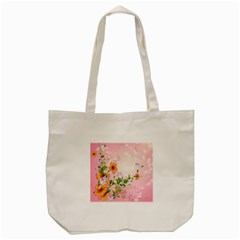 Beautiful Flowers On Soft Pink Background Tote Bag (Cream)