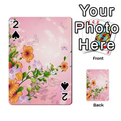 Beautiful Flowers On Soft Pink Background Playing Cards 54 Designs