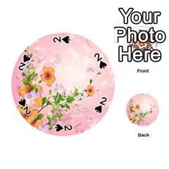 Beautiful Flowers On Soft Pink Background Playing Cards 54 (Round)