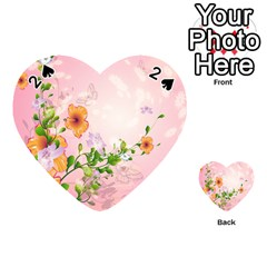 Beautiful Flowers On Soft Pink Background Playing Cards 54 (heart)
