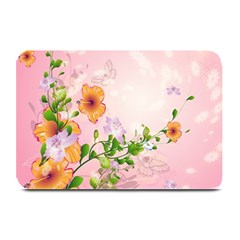 Beautiful Flowers On Soft Pink Background Plate Mats