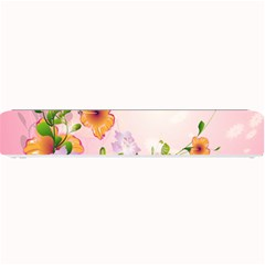 Beautiful Flowers On Soft Pink Background Small Bar Mats