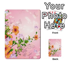 Beautiful Flowers On Soft Pink Background Multi-purpose Cards (Rectangle)
