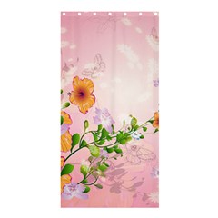 Beautiful Flowers On Soft Pink Background Shower Curtain 36  x 72  (Stall)