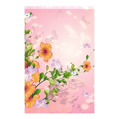 Beautiful Flowers On Soft Pink Background Shower Curtain 48  X 72  (small)