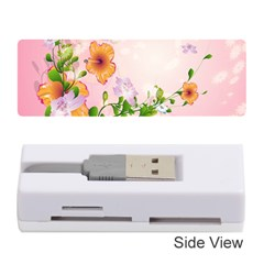 Beautiful Flowers On Soft Pink Background Memory Card Reader (Stick)