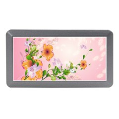 Beautiful Flowers On Soft Pink Background Memory Card Reader (Mini)