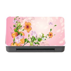 Beautiful Flowers On Soft Pink Background Memory Card Reader with CF