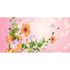 Beautiful Flowers On Soft Pink Background YOU ARE INVITED 3D Greeting Card (8x4)