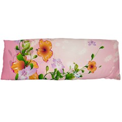 Beautiful Flowers On Soft Pink Background Body Pillow Cases (Dakimakura)