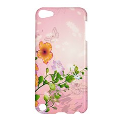 Beautiful Flowers On Soft Pink Background Apple iPod Touch 5 Hardshell Case