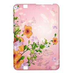 Beautiful Flowers On Soft Pink Background Kindle Fire HD 8.9