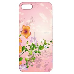 Beautiful Flowers On Soft Pink Background Apple iPhone 5 Hardshell Case with Stand