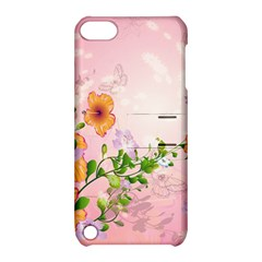 Beautiful Flowers On Soft Pink Background Apple iPod Touch 5 Hardshell Case with Stand