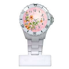 Beautiful Flowers On Soft Pink Background Nurses Watches