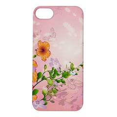 Beautiful Flowers On Soft Pink Background Apple iPhone 5S Hardshell Case