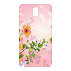 Beautiful Flowers On Soft Pink Background Samsung Galaxy Note 3 N9005 Hardshell Back Case