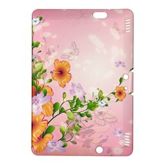 Beautiful Flowers On Soft Pink Background Kindle Fire HDX 8.9  Hardshell Case