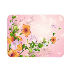 Beautiful Flowers On Soft Pink Background Double Sided Flano Blanket (Mini)